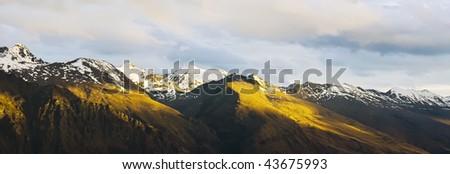 SNOWY MOUNTAIN - stock photo