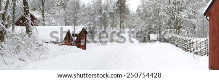 Snowy Scene from H�¤sthagen, Sweden
