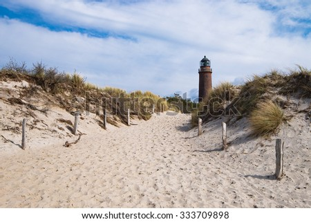 "So called lighthouse ""Darsser Ort"" in Germany"
