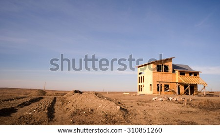 So many workers have moved to North Dakota, housing is in big demand. - stock photo