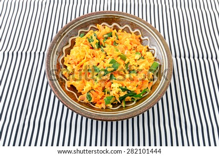 So-min - Okinawan cuisine - stock photo