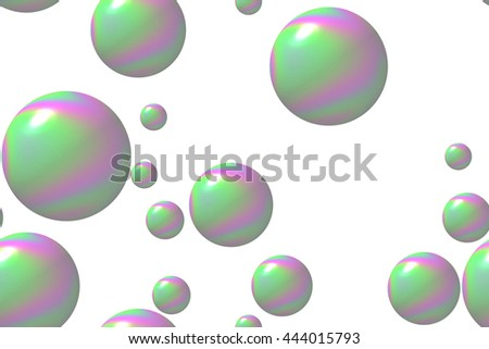 soap bubble 3D Illustration