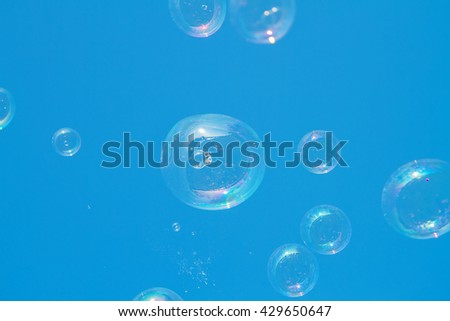 Soap bubbles are allowed in nature during summer