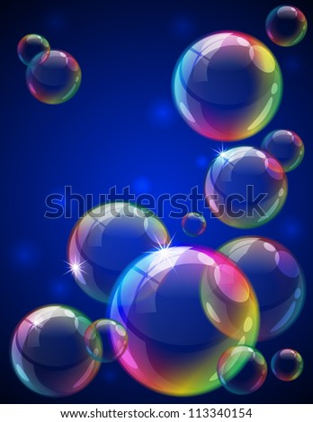 Soap bubbles background - raster version - stock photo