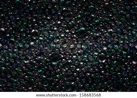 Soap bubbles of different color - stock photo