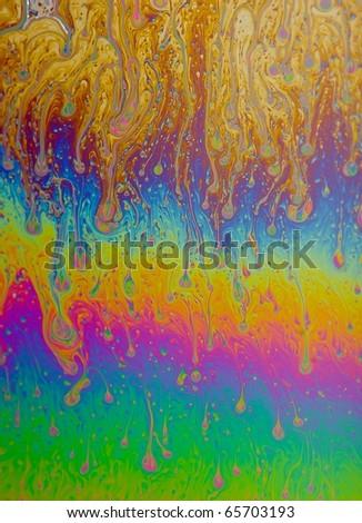 Soap Film Macro - stock photo