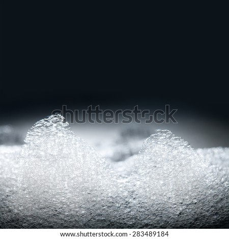 Soap foam, suds, shower. soft focus - stock photo