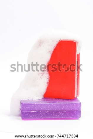 soap isolated on white background