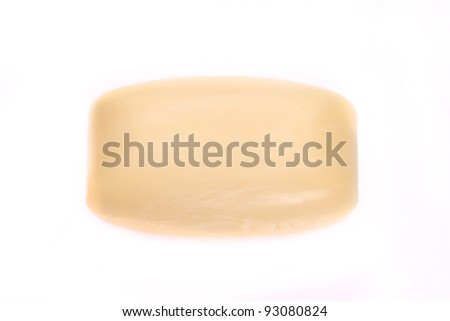 soap isolated on white background - stock photo