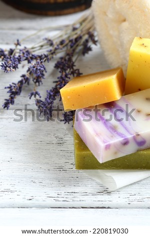 Soaps with lavender hygienic, natural