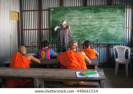 SOC TRANG, VIETNAM, November 26, 2016 a class ethnic Cham, Soc Trang Province, Vietnam