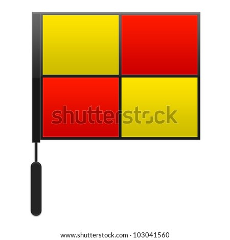 Soccer Assistant / Sideline Referee Flag - stock photo