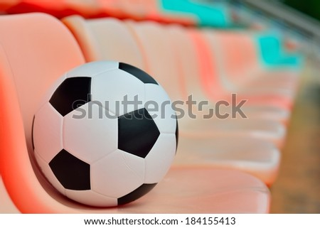 Soccer ball and Sport stadium