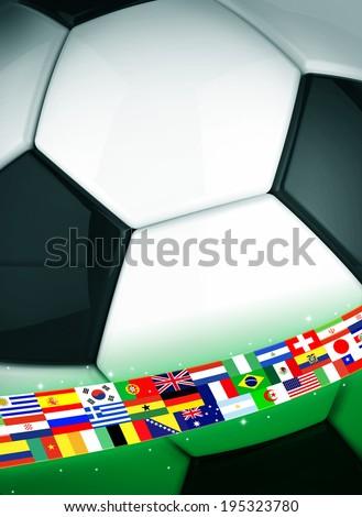 Soccer ball concept - stock photo