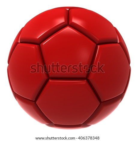 soccer ball. 3D illustration.
