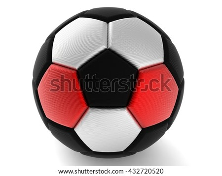 Soccer ball. 3D illustration. 3D CG. Format 4:3. High resolution.