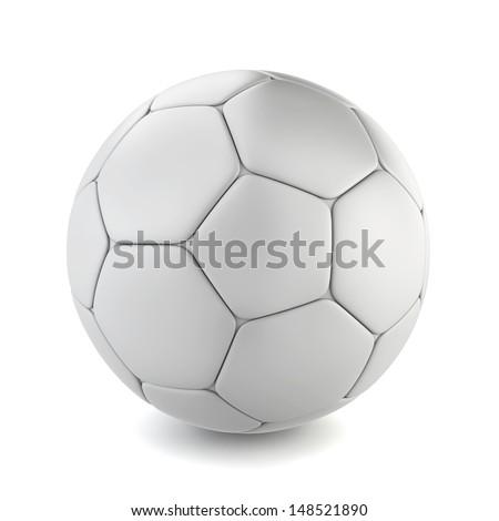 Soccer ball. 3d illustration on white background  - stock photo