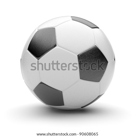 Soccer ball  3D. Sport concept. Isolated on white background - stock photo