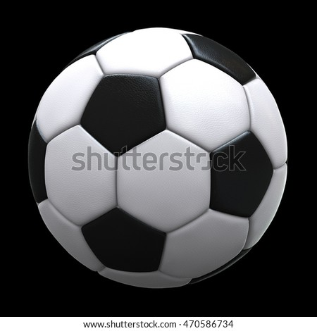Soccer ball (football ball) isolated on black background - 3D illustration
