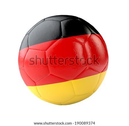 soccer ball germany 3d - stock photo