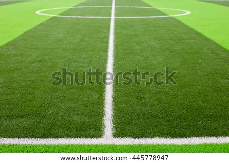 soccer ball green grass field, soccer line