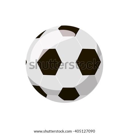 Soccer ball icon - stock photo