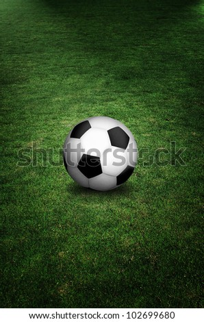 soccer ball in field - stock photo