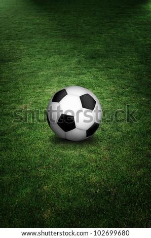 soccer ball in field - stock photo