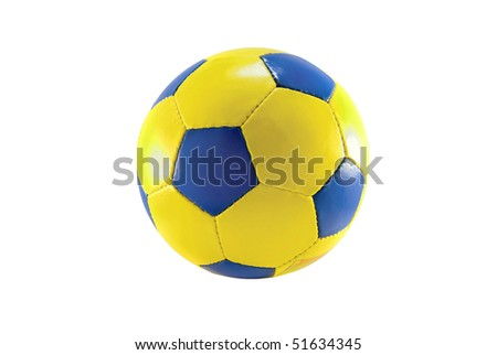 soccer ball is isolated on white - stock photo