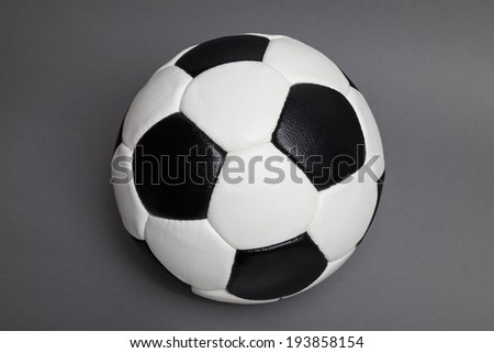 soccer ball isolated, on grey background - stock photo