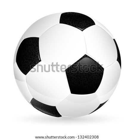 Soccer ball isolated on white, element for design, illustration