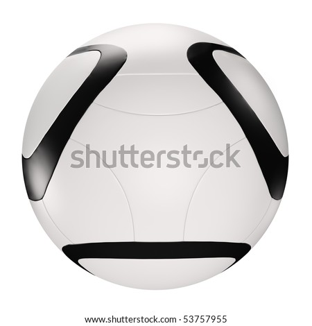 Soccer ball isolated over the white 3d render