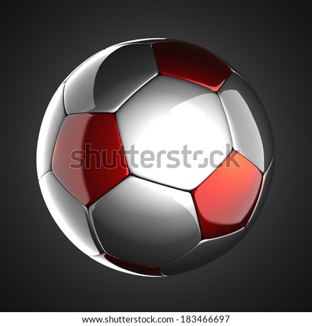 soccer ball on gray background