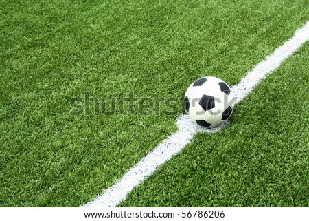 soccer ball on kick point