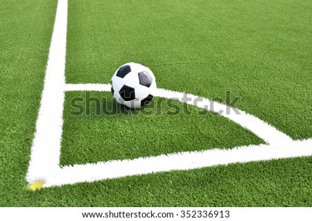 Soccer ball on the field