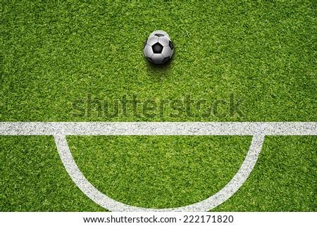 Soccer Ball On The Green Grass Field - stock photo