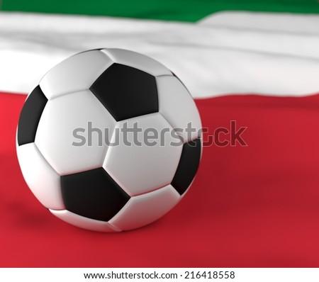 soccer ball on the italy flag  - stock photo