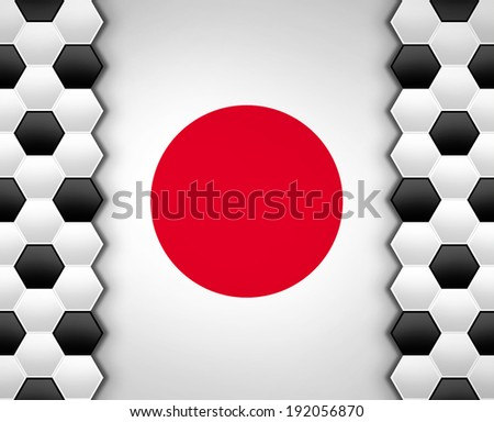 soccer ball pattern on Japan flag