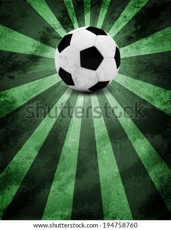Soccer ball. The sports background. Grunge style