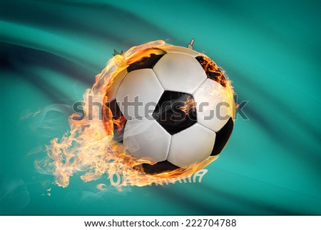 Soccer ball with flag on background series - Oklahoma - stock photo