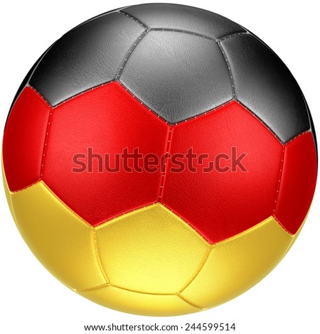 Soccer ball with Germany flag (photorealistic)