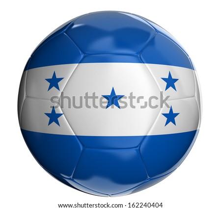 Soccer ball with Honduras flag  - stock photo
