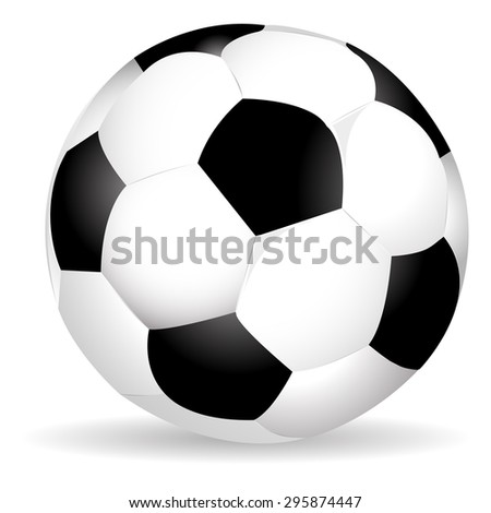 soccer ball with shadow