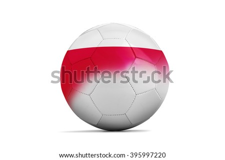 Soccer balls with team flags, Football Euro 2016. Group C, Poland- clipping path - stock photo
