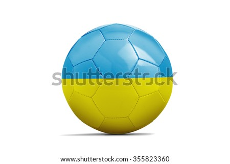 Soccer balls with team flags, Football Euro 2016. Group C, Ukraine - clipping path - stock photo