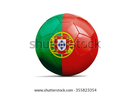 Soccer balls with team flags, Football Euro 2016. Group F, Portugal - clipping path - stock photo