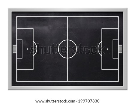 Soccer board, black, steel frame