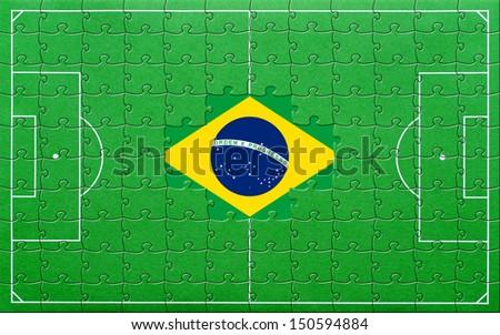 Soccer Championship Brazil - stock photo
