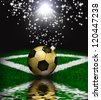 Soccer christmas holiday background - stock photo
