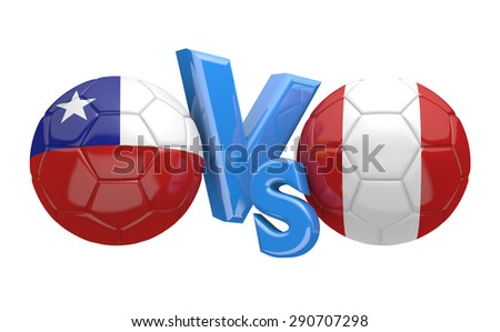 Soccer competition, national teams Chile vs Peru - stock photo